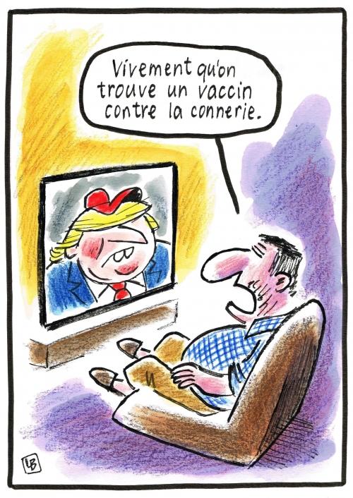 webzine,bd,zébra,gratuit,fanzine,bande-dessinée,caricature,dessin,presse,donald trump,vaccin,lb,marianne,editorial cartoon
