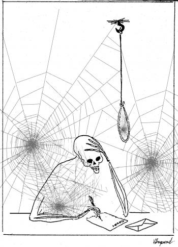 webzine,bd,zébra,gratuit,fanzine,bande dessinée,actualité,revue,presse,hebdomadaire,octobre,2018,caricaturiste,pétillon,mort,siné,cabu,canard enchaîné,jack palmer,banx,the reaper,gary mead,rory pickering,victor bogorad