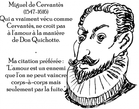 webzine,zébra,gratuit,bd,fanzine,bande-dessinée,antistyle,littéraire,critique,littérature,portrait,écrivain,caricature,citation,miguel de cervantes,amour,don quichotte