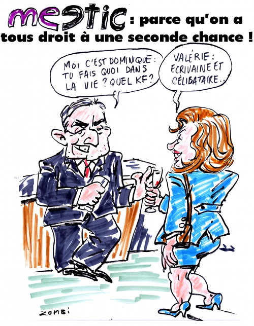 webzine,bd,zébra,gratuit,fanzine,bande-dessinée,caricature,meetic,amour,deuxième chance,valérie trierweiler,dsk,dominique strauss-kahn,dessin,presse,satirique,editorial cartoon,zombi
