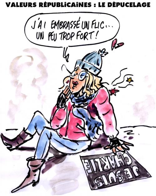 webzine,zébra,bd,gratuit,fanzine,bande-dessinée,caricature,manifestant,flic,dépucelage,manifestation,el khomri,valeurs républicaines,dessin,presse,satirique,editorial cartoon,zombi