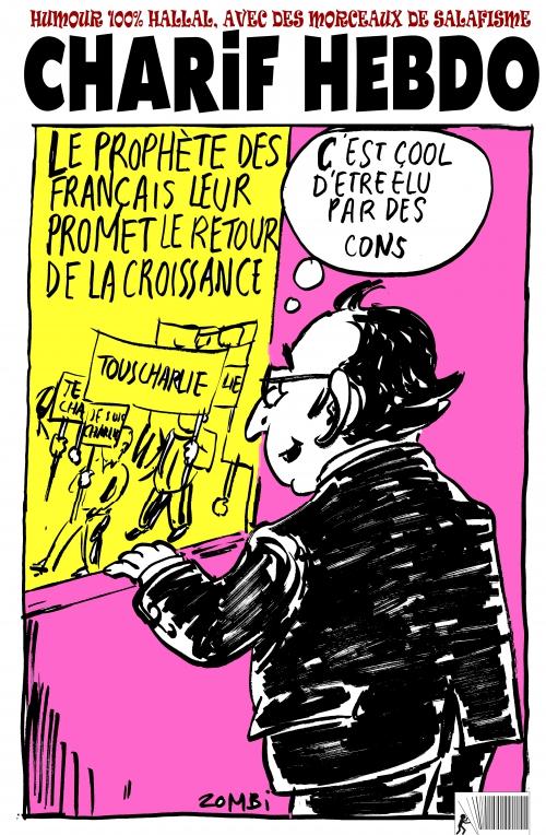 webzine,bd,gratuit,fanzine,zébra,bande-dessinée,caricature,françois hollande,prophète,charlie-hebdo,gérard biard,dessin,presse,satirique,editorial cartoon,zombi