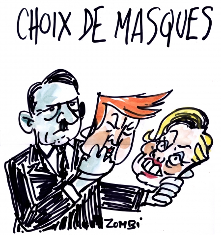 webzine,bd,zébra,gratuit,fanzine,bande-dessinée,caricature,adolf hitler,masques,hillary clinton,donald trump,editorial cartoon,dessin,presse,satirique,zombi