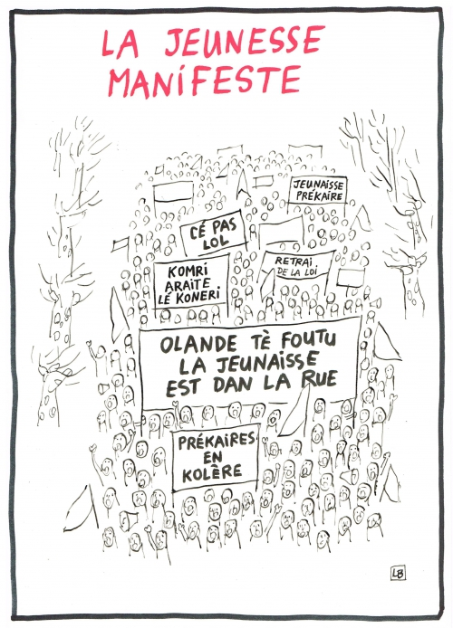 webzine,bd,gratuit,zébra,fanzine,bande-dessinée,caricature,manifestation,loi,el khomri,banderoles,orthographe,dessin,presse,satirique,editorial cartoon,lb