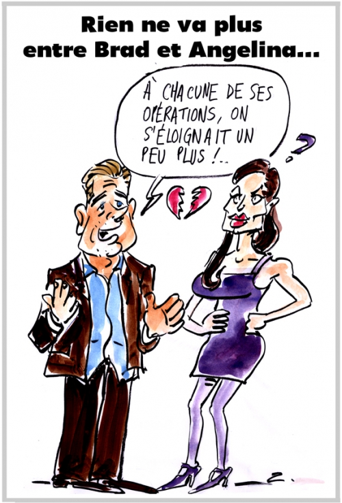 webzine,bd,zébra,fanzine,gratuit,bande-dessinée,caricature,brad pitt,angelina jolie,dessin,presse,couple,divorce,satirique,dessin,presse,editorial cartoon