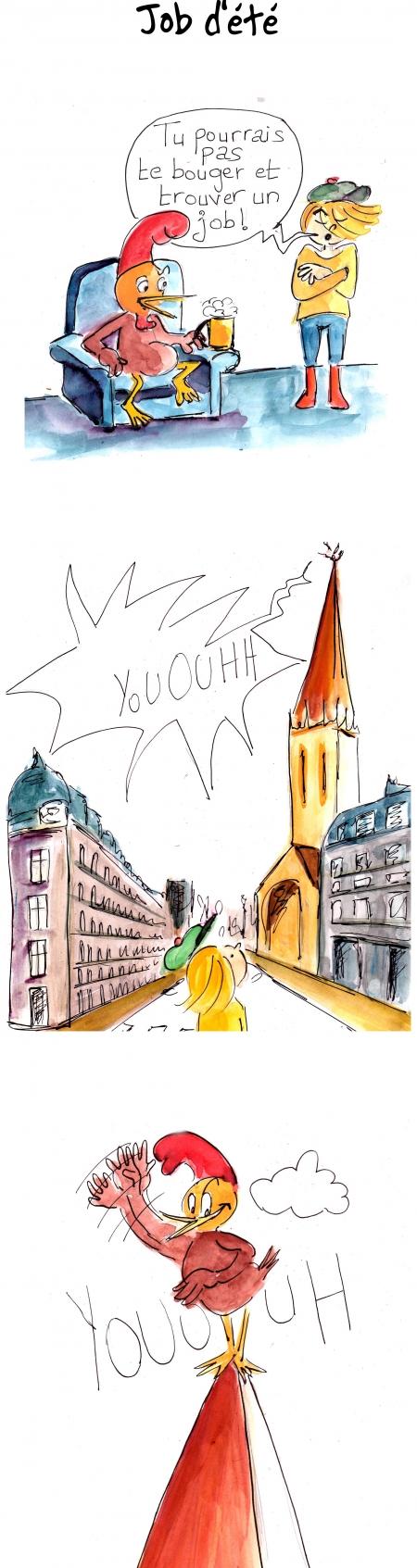 webzine,bd,gratuit,zébra,fanzine,bande-dessinée,strip,lola,aurélie dekeyser,job,été,jeffrey,poulet,comic,strip,coq
