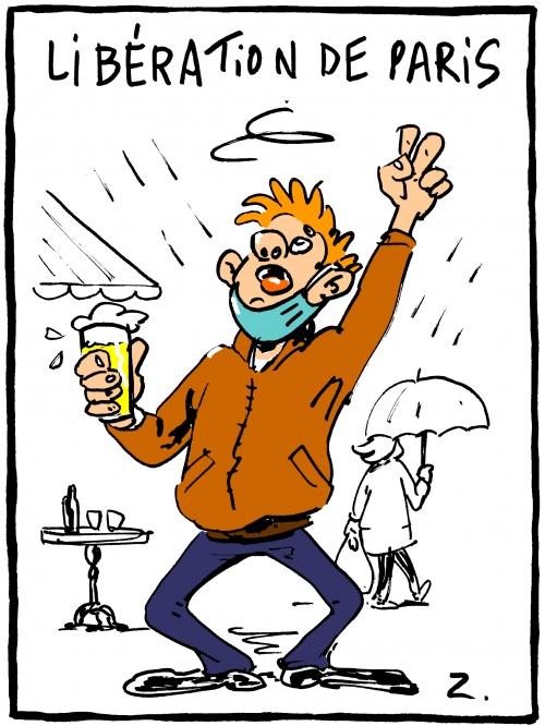 webzine,bd,zébra,gratuit,fanzine,bande-dessinée,caricature,déconfinement,épidémie,coronavirus,terrasse,mai,2021,dessin,presse,satirique,editorial cartoon,zombi