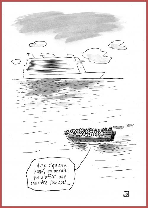 webzine,bd,gratuit,zébra,fanzine,bande-dessinée,caricature,lb,croisière,migrants,dessin,presse,satirique,editorial cartoon