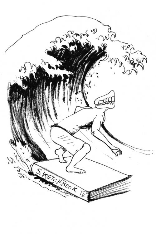 webzine,bd,gratuit,zébra,fanzine,bande-dessinée,dessin,surf,michel soucy,hokusai,vague