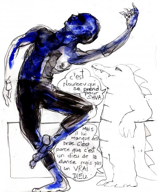 webzine,bd,gratuit,zébra,bande-dessinée,louise asherson,noureev,danse,dieu,shiva,carnet,dessin,illustration