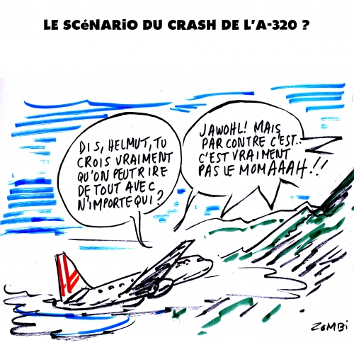 webzine,bd,gratuit,zébra,fanzine,bande-dessinée,caricature,a-320,crash,germanwings,alpes,dessin,presse,satirique,editorial cartoon,zombi