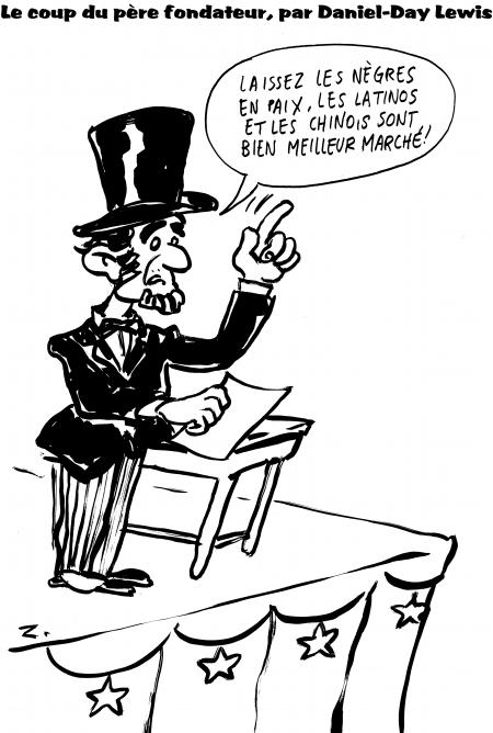 fanzine,zébra,bd,webzine,gratuit,bande-dessinée,caricature,daniel-day lewis,lincoln,père fondateur,dessin,satirique,zombi,oscar