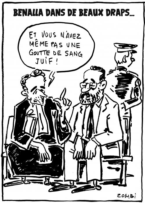 webzine,bd,zébra,gratuit,fanzine,bande-dessinée,caricature,alexandre benalla,inculpation,avocat,juif,dessin,presse,satirique,editorial cartoon,zombi