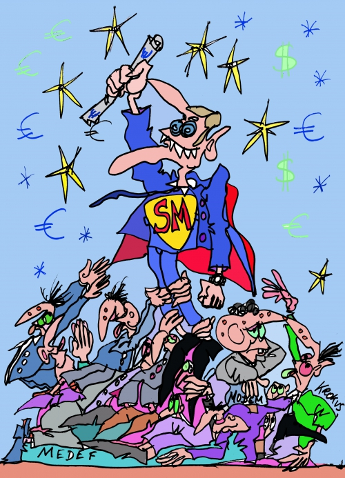 webzine,bd,zébra,gratuit,fanzine,bande-dessinée,caricature,macron,superman,législatives,2017,krokus,dessin,presse,satirique,editorial cartoon