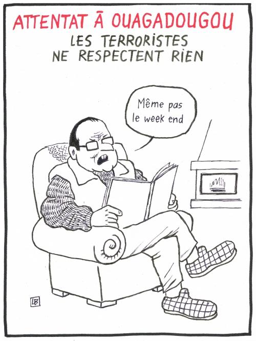 webzine,bd,gratuit,zébra,fanzine,bande-dessinée,caricature,françois hollande,ouagadougou,attentat,burkina faso,terrorisme,dessin,presse,editorial cartoon,lb