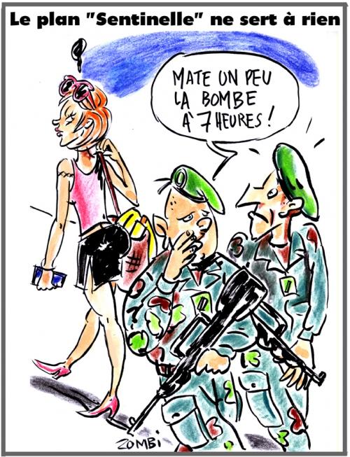 webzine,bd,gratuit,fanzine,zébra,bande-dessinée,caricature,plan,sentinelle,vigipirate,terrorisme,bombe,dessin,presse,satirique,editorial cartoon,zombi