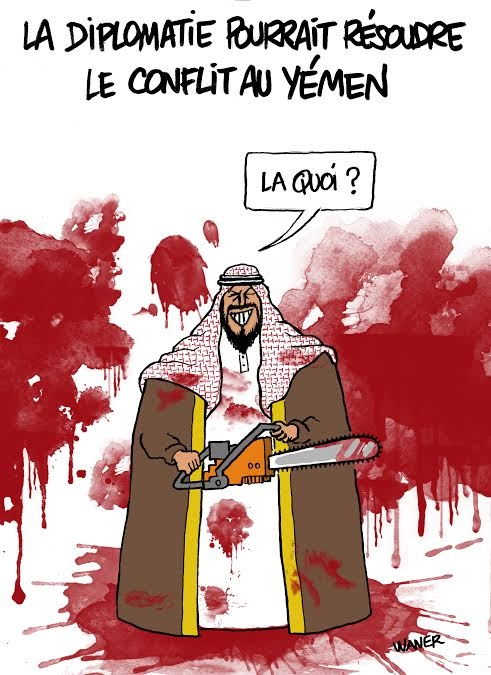 webzine,bd,zébra,gratuit,fanzine,bande-dessinée,caricature,yémen,arabie saoudite,diplomatie,dessin,presse,satirique,editorial cartoon,waner