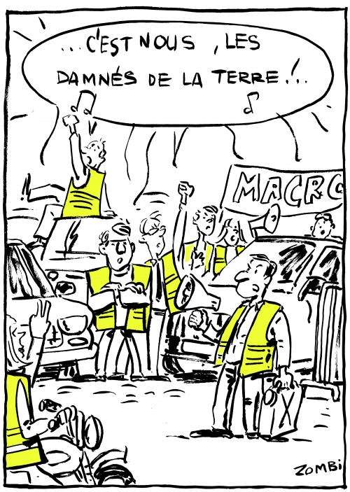 webzine,bd,zébra,fanzine,gratuit,bande-dessinée,caricature,gilets jaunes,manifestation,novembre,2018,dessin,presse,satirique,editorial cartoon,zombi