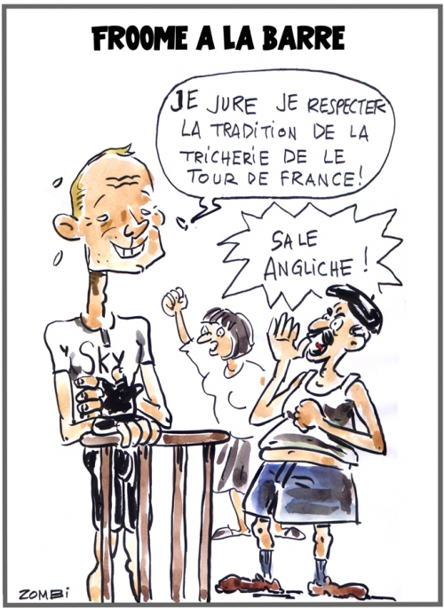 webzine,bd,zébra,fanzine,gratuit,bande-dessinée,caricature,chris froome,tour de france,2018,dopage,dessin,presse,satirique,editorial cartoon,zombi