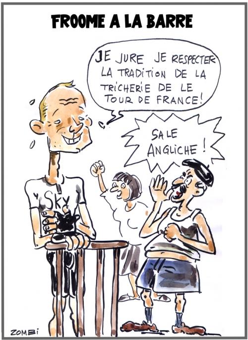 webzine,bd,zébra,fanzine,gratuit,bande-dessinée,caricature,chris froome,tour de france,2018,dopage,dessin,presse,satirique,editorial cartoon,zombi