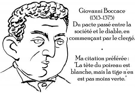 webzine,zébra,gratuit,bd,fanzine,bande-dessinée,antistyle,littéraire,critique,littérature,portrait,écrivain,caricature,citation,giovanni boccace,diable,pacte,société,catholicisme