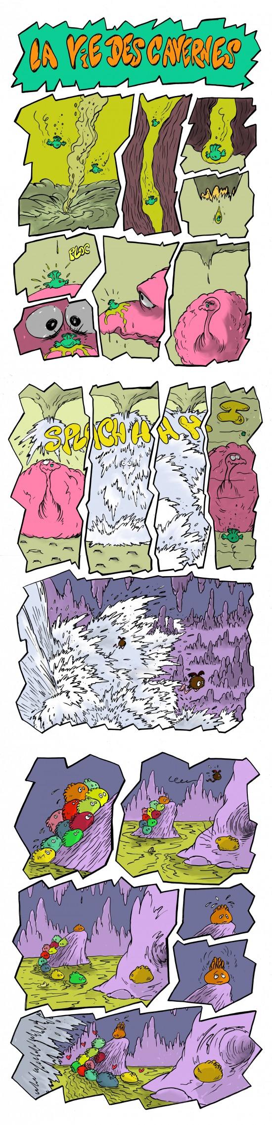 fanzine,bd,zébra,bande-dessinée,strip,gratuite,cavernes,david roche,planches