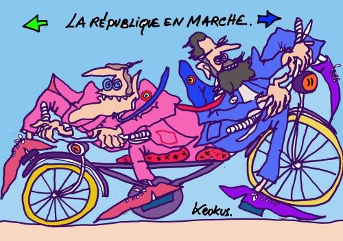 webzine,bd,zébra,gratuit,fanzine,bande-dessinée,caricature,en marche,edouard philippe,emmanuel macron,krokus,dessin,presse,satirique,editorial cartoon,siné-mensuel
