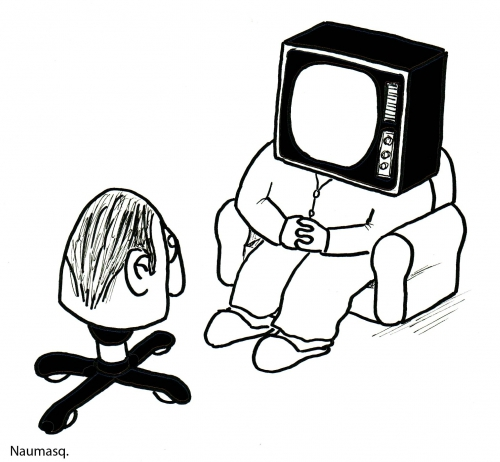 webzine,bd,zébra,fanzine,gratuit,bande-dessinée,gag,naumasq,télévision,téléspectateur,humour