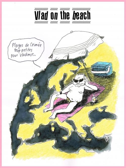 webzine,bd,zébra,fanzine,bande-dessinée,gratuit,caricature,vladimir poutine,crimée,plage,dessin,presse,satirique,editorial cartoon