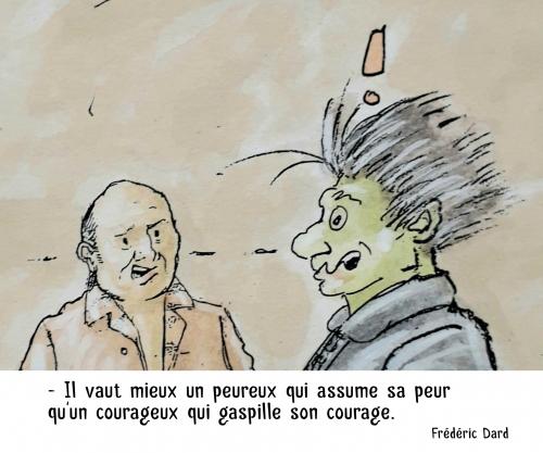 webzine,bd,zébra,gratuit,fanzine,bande-dessinée,citation,frédéric dard,marc schmitt,peur,courage