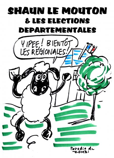 webzine,gratuit,zébra,bd,fanzine,bande-dessinée,caricature,parodie,shaun le mouton,élections,départementales,régionales,dessin,presse,satirique,zombi