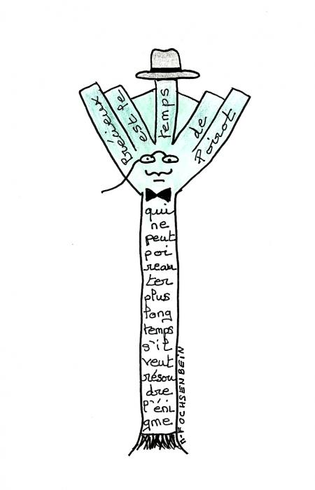 marie-france ochsenbein,agatha christie,hommage,poirot,caligramme