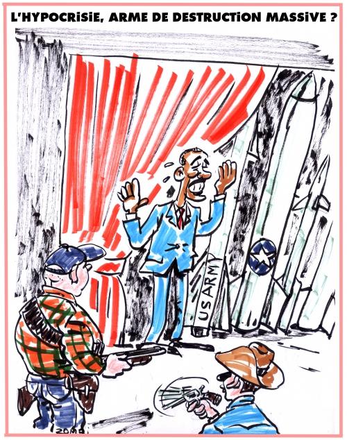 webzine,zébra,fanzine,gratuit,bd,bande-dessinée,caricature,barack obama,armes,désarmement,constitution,hypocrisie,dessin,presse,satirique,zombi,editorial cartoon