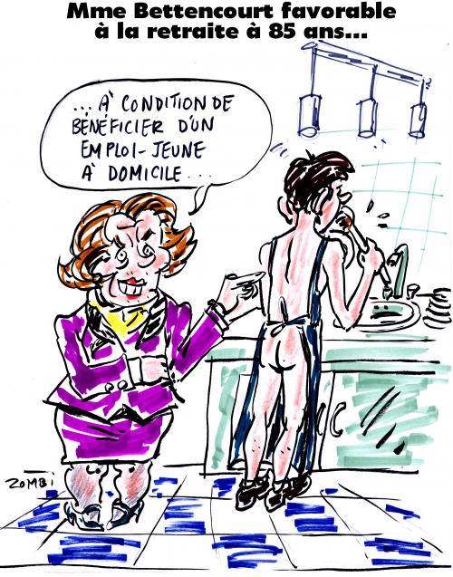 webzine,bd,gratuit,zébra,bande-dessinée,fanzine,caricature,ingrid bettencourt,gigolo,retraite,dessin,presse,satirique,editorial cartoon,zombi