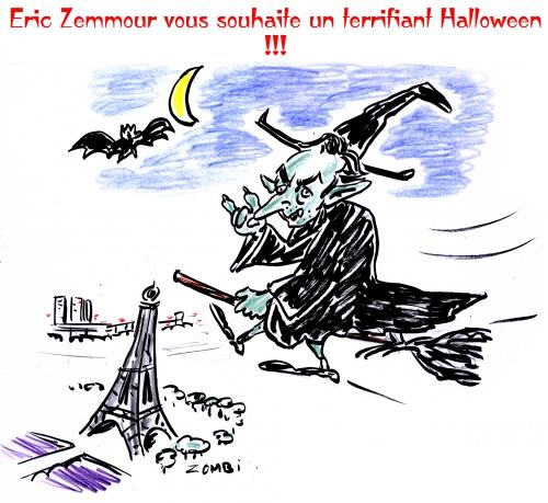 webzine,zébra,bd,fanzine,gratuit,bande-dessinée,satirique,caricature,éric zemmour,halloween,sorcière,dessin,presse,editorial cartoon,zombi