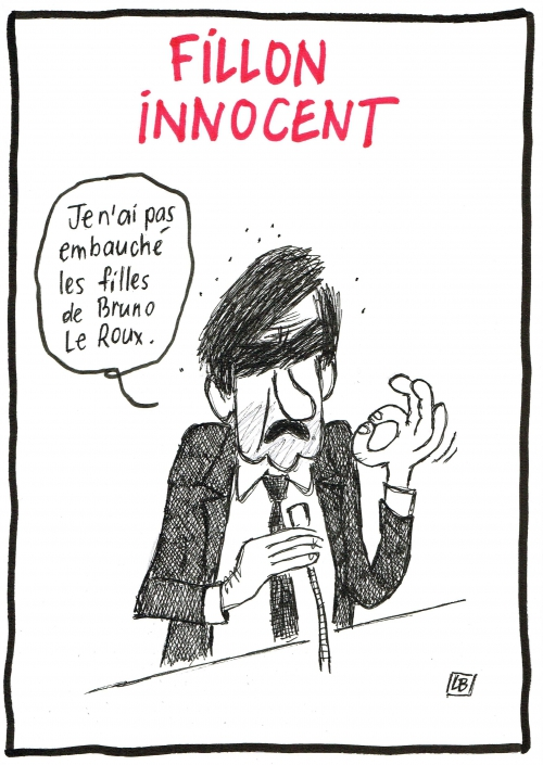 webzine,bd,zébra,gratuit,fanzine,bande-dessinée,caricature,françois fillon,emploi fictif,bruno leroux,innocent,dessin,presse,satirique,lb,editorial cartoon