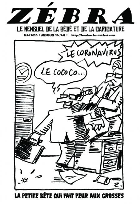 webzine,bd,gratuit,zébra,fanzine,bande-dessinée,pdf,mensuel,caricature,zombi,laouber,mai,énigmatique lb,2020,dessin,presse,satirique