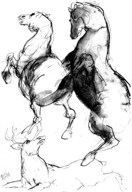 fanzine,webzine,zébra,croquis,bd,bande-dessinée,illustration,louise asherson,,chevaux