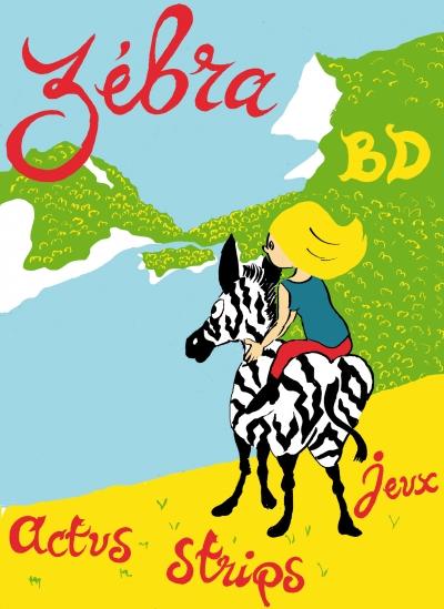 webziine,bd,gratuit,zébra,fanzine,bande-dessinée,illustration,couverture,spécial été,2013,aurélie dekeyser