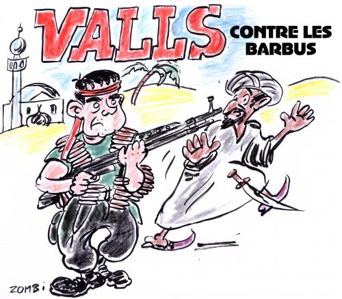 webzine,zébra,bd,gratuit,fanzine,bande-dessinée,caricature,manuel valls,rambo,état islamique,bougnoule,anarchiste,dessin,presse,editorial cartoon,zombi