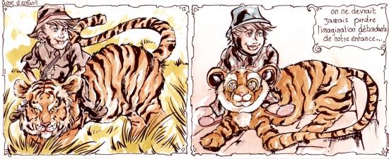 webzine,bd,zébra,fanzine,gratuit,bande-dessinée,strip,tigre,safari,toubab,benoît,humour,gag,aquarelle