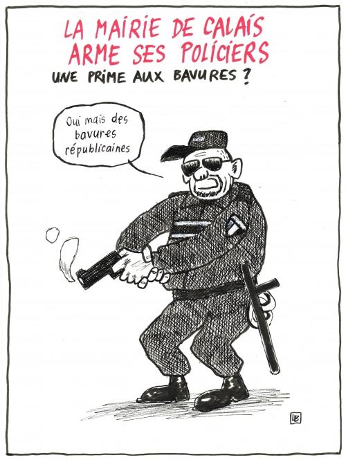 webzine,bd,gratuit,zébra,fanzine,bande-dessinée,caricature,calais,police,arme,dessin,presse,satirique,editorial cartoon