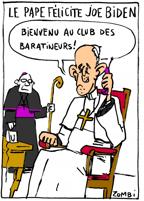 webzine,bd,zébra,gratuit,fanzine,bande-dessinée,caricature,pape françois,joe biden,élections,usa,démocratie,dessin,presse,satirique,editorial cartoon,zombi