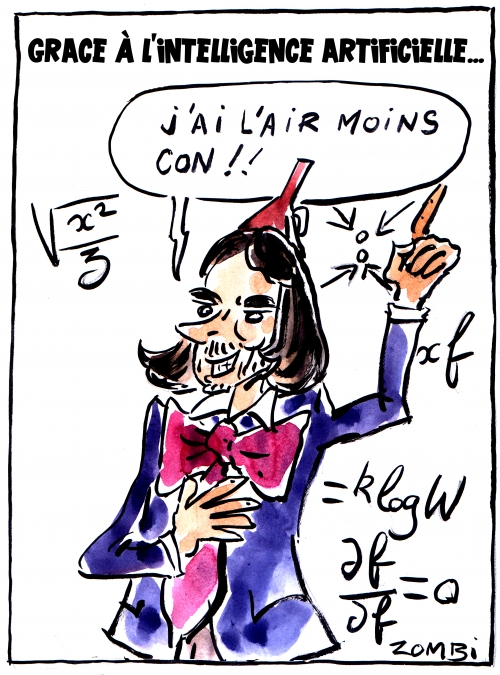 webzine,bd,zébra,fanzine,gratuit,fanzine,bande-dessinée,caricature,cédric villani,intelligence artificielle,dessin,presse,satirique,editorial cartoon,zombi