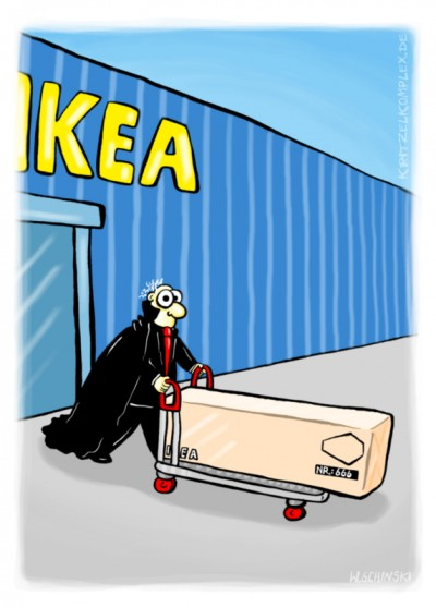 fanzine,bd,bande-dessinée,illustration,humbug,gag,humour,allemand,wschinski,comics,ikéa,vampire,cercueil