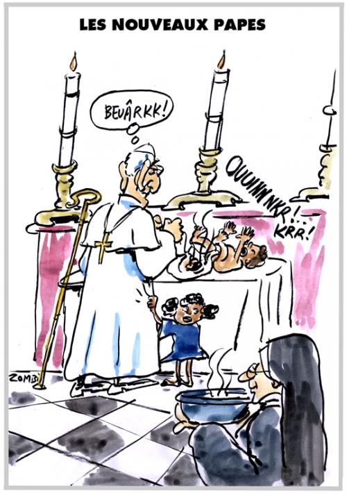 webzine,bd,zébra,fanzine,gratuit,bande-dessinée,caricature,pape,françois,vatican,migrants,accueil,dessin,presse,satirique,editorial cartoon,zombi