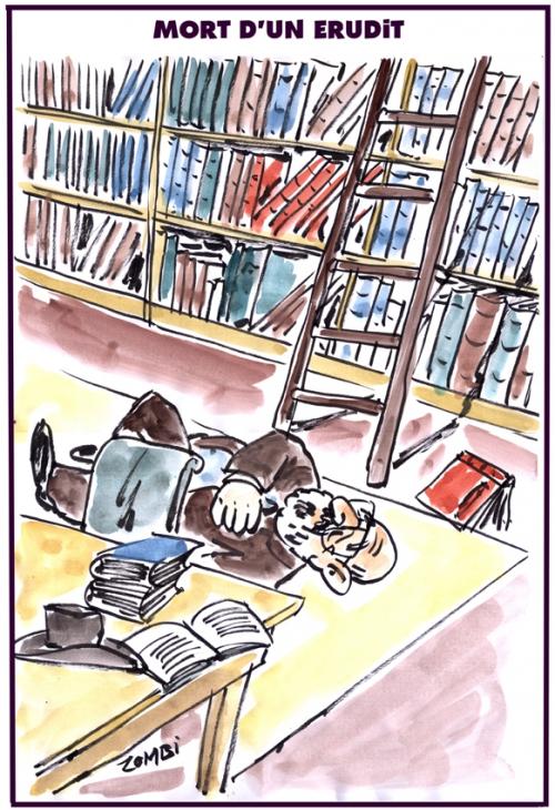 webzine,bd,zébra,fanzine,gratuit,bande-dessinée,caricature,umberto eco,érudit,mort,bibliothèque,dessin,presse,satirique,editorial cartoon,zombi