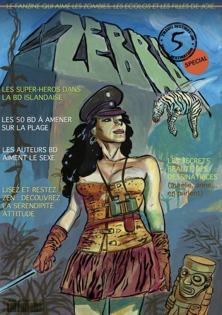 fanzine,bd,bande-dessinée,zébra,illustration,florent tardieu,couverture