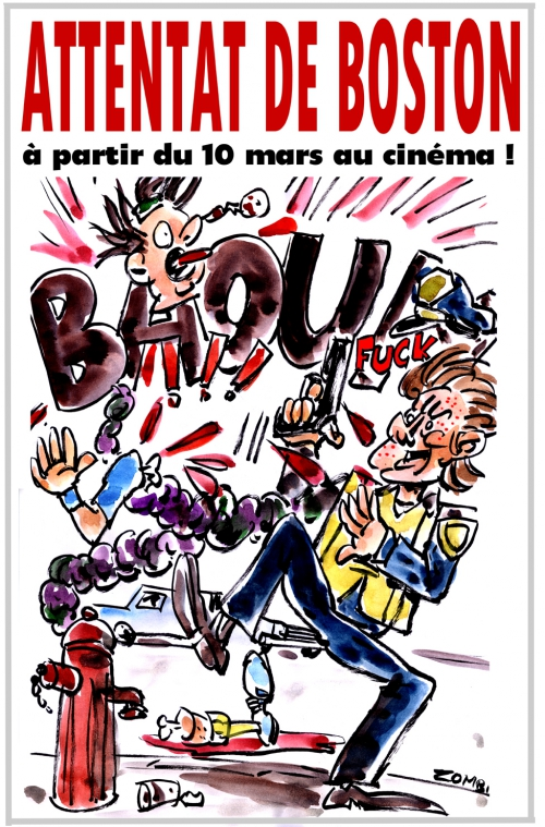 webzine,bd,gratuit,zébra,fanzine,bande-dessinée,caricature,boston,attentat,traque,mark wahlberg,patriots day,cbs films,dessin,presse,satirique,editorial cartoon,zombi