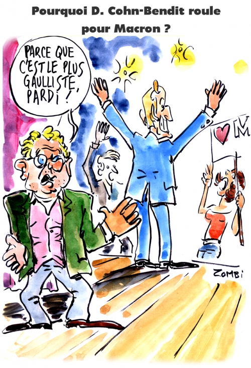 webzine,bd,zébra,gratuit,fanzine,bande-dessinée,caricature,daniel cohn-bendit,emmanuel macron,présidentielle,2017,dessin,presse,satirique,editorial cartoon,zombi
